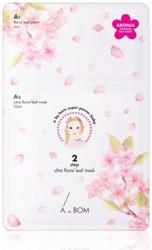 A. by BOM Ultra Floral Leaf Mask Dwuetapowa maska do twarzy