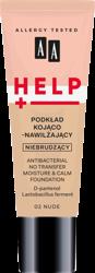 AA Help Podkład do twarzy kojąco-nawilżający 02 Nude 30 ml
