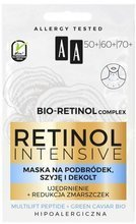 AA Retinol Intensive 50/60/70 maska na podbródek, szyję i dekolt 2x5 ml