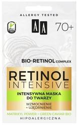 AA Retinol Intensive 70+ intensywna maska do twarzy wzmocnienie+ujędrnienie 2x5 ml