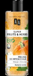 AA Super Fruits&Herbs Peeling do mycia ciała dynia/jaśmin 200ml