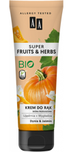 AA Super Fruits&Herbs krem do rąk dynia/jaśmin 100ml