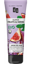 AA Super Fruits&Herbs krem do rąk figa/lawenda 100ml