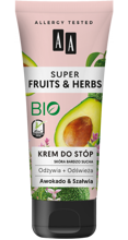 AA Super Fruits&Herbs krem do stóp awokado/szałwia 75ml