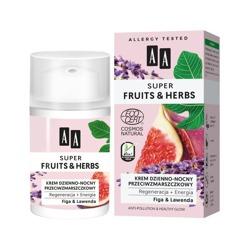 AA Super Fruits&Herbs krem dzienno-nocny przeciwzmarszczkowy figa/lawenda 50ml