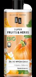 AA Super Fruits&Herbs żel do mycia ciała dynia/jaśmin 500ml