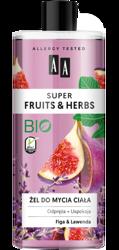 AA Super Fruits&Herbs żel do mycia ciała figa/lawenda 500ml