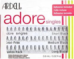 Ardell Adore Singles Knot Free Combo Pack - Zestaw rzęs w kępkach 48szt.