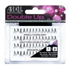 Ardell Double Individuals Knot-Free Double Flares -  Podwójne kępki sztucznych rzęs bez węzełków  Medium Black, 60 sztuk