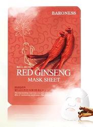 BARONESS Red Ginseng Mask Sheet maseczka do twarzy z czerwonego żeń-szenia