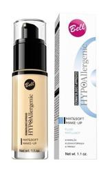BELL Mat&Soft Make-Up fluid Matujący podkład do twarzy 03 sunny beige 30g