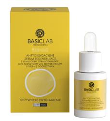BasicLab Antyoksydacyjne serum regenerujące Odżywienie i wygładzenie 15ml