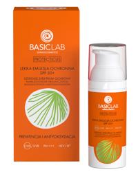 BasicLab Prewencja i antyoksydacja Lekka emulsja ochronna SPF50+ 50ml