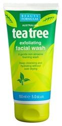 Beauty Formulas Tea Tree Złuszczający żel do mycia twarzy 150ml