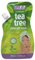 Beauty Formulas TeaTree Głęboko oczyszczająca maska peel-off do twarzy 50ml