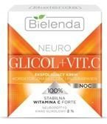 Bielenda NEURO GLICOL+ VIT. C Eksfoliujący krem korektor zmarszczek i przebarwień na noc 50 ml