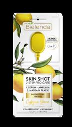 Bielenda SKIN SHOT 2-Step Pro Care Serum+Maska Cytryna/Yuzu