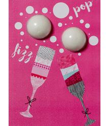Bomb Cosmetics Kartka z musująca kulą do kąpieli BIRTHDAY BUBBLY