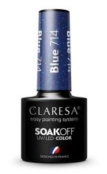CLARESA Lakier hybrydowy Blue 714 5g