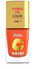 Delia Lakier do paznokci Coral Hybrid Gel nr 02 Pomarańczowy 11ml