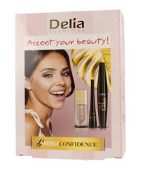 Delia ZESTAW Accent your beauty Tusz+Eyeliner+Pomadka w płynie