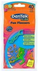 DenTek wykałaczki z nicią dla dzieci Fun Flosser 40szt.