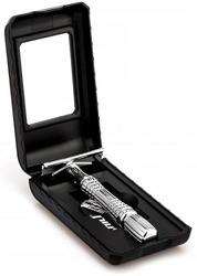 Deni Carte Tradycyjna maszynka do golenia na żyletkę w etui z lusterkiem