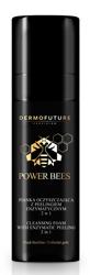 DermoFuture Power Bees Pianka oczyszczająca z peelingiem enzymatycznym 2w1 150ml