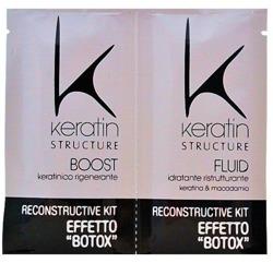 EDELSTEIN Keratin Structure, Boost + Fluid Keratin Reconstructive Kit Effetto Botox Kuracja keratynowa z efektem botoksu 2x12ml