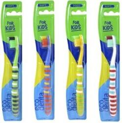 EcoDenta FOR KIDS SOFT szczoteczka do zębów dla dzieci miękka 1szt. mix kolorów