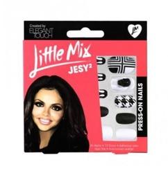 Elegant Touch Little Mix Press On Nails - Sztuczne paznokcie zdobione Jesy 2, 24 paznokcie