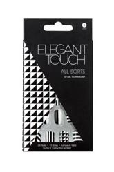 Elegant Touch UV Gel Technology Nails - Sztuczne paznokcie zdobione z taśmą samoprzylepną All Sorts, 24 sztuki