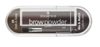 Essence Brow Powder Set Paleta cieni do brwi 02 dark&deep