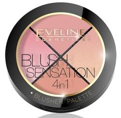 Eveline Cosmetics Blush Sensation Paleta róży do modelowania 4w1