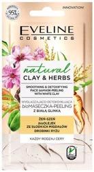 Eveline Cosmetics CLAY&HERBS maseczka-peeling Wygładzająco-detoksykująca z białą glinką 8ml