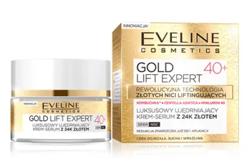 Eveline Cosmetics GOLD Revita Expert Luksusowy ujędrniający krem-serum z 24K złotem 40+ 50ml