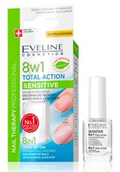 Eveline Cosmetics Nail Therapy 8w1 Sensitive Odżywka do paznokci z kwarcem 12ml