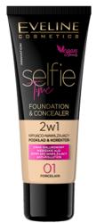Eveline Cosmetics Selfie Time Kryjąco-nawilżający podkład i korektor 01 Porcelain 30ml