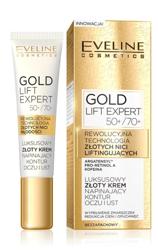 Eveline GOLD Lift Expert Luksusowy złoty krem napinający kontur oczu i ust 50+/70+ 15ml