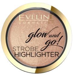 Eveline Glow&GO Wypiekany rozświetlacz 02 Gentle Gold 8,5g