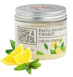 FRESH&NATURAL Pasta do mycia twarzy z melisą i szałwią 150ml