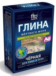 Fitokosmetik Glinka czarna Morza Martwego ze srebrem 2x50g