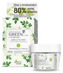 FlosLek GREEN for Skin Nawilżający krem do twarzy z selerem na dzień 50ml