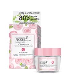 FlosLek ROSE for skin Różane ogrody Różany krem przeciwzmarszczkowy na noc 50ml
