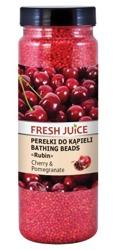 Fresh Juice Perełki do kąpieli - Wiśnia i Granat 450g