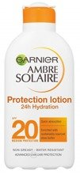 Garnier Ambre Solaire UV SPF20 Protection Lotion 24h Hydration Nawilżający balsam ochronny do ciała 200ml