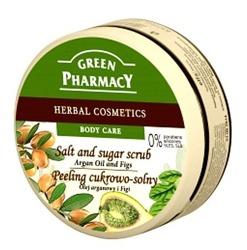 Green Pharmacy Peeling Cukrowo -Solny z olejem arganowym i figami 300ml
