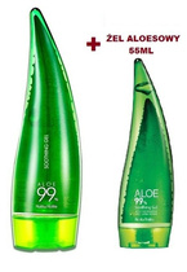 Holika Holika Aloe 99% Soothing Gel Zestaw wielofunkcyjnych żeli aloesowych 250 ml + 55 ml
