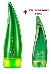 Holika Holika Aloe 99% Soothing Gel Zestaw wielofunkcyjnych żeli aloesowych 250 ml + 55 ml GRATIS