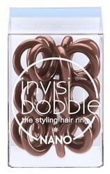 INVISIBOBBLE NANO Pretzel Brown Brązowa mała gumka do włosów, 3 sztuki